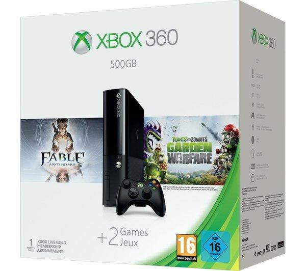 [LOKAL MM Essen] Xbox 360 E 500GB + Fable Anniversary und Plants VS Zombies: Garden Warfare für 169,00€