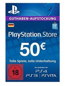 [Amazon] Playstation Network (PSN) 50€ für 45€