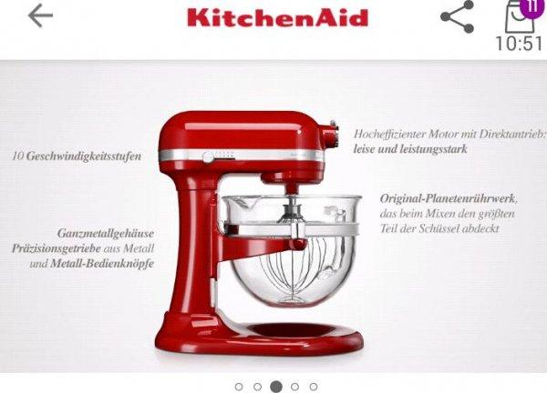 Abgelaufen - kitchenaid artisan 6L Modell 5KSM6521X bei vente privee online
