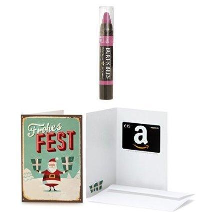 15 EUR Amazon.de Geschenkgutschein + Burt's Bees 100% Natural Lip Crayon Hawaiian Smolder, 3.11g