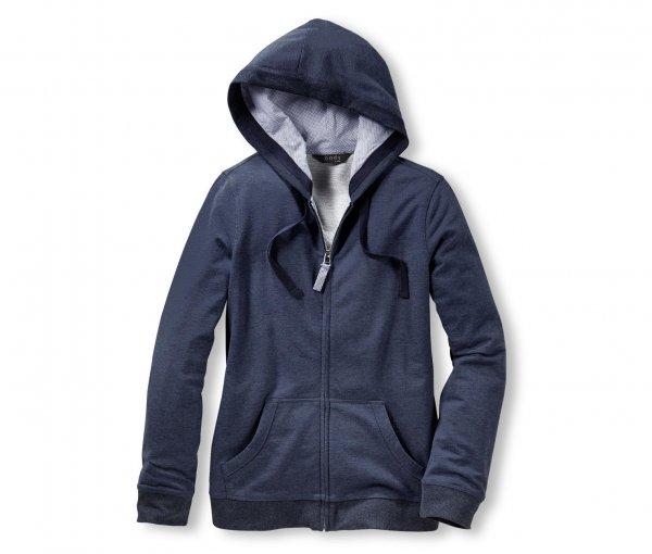 [8% Qipu] Damen Homewear-Jacke aus Baumwolle in blau für 15,95€ bei Lieferung in Filiale @Tchibo Online