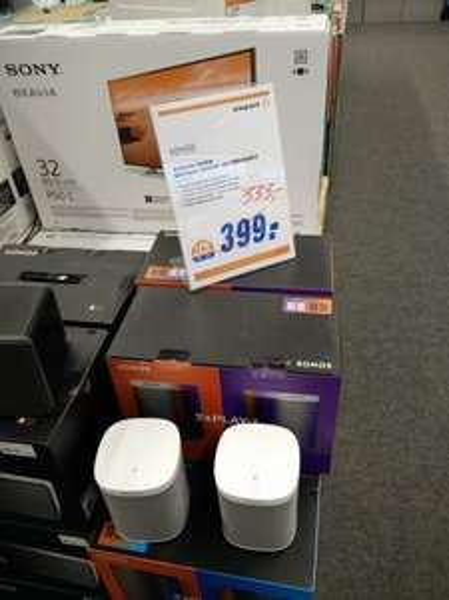 [expert in Singen (Htwl.)] Sonos Play 1- 2 Room Starter Set weiß und schwarz (d.h. 2 Stck.)- für 333€
