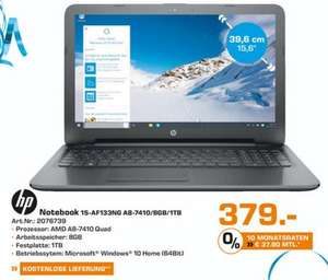 [Lokal Trier] Saturn: HP Notebook 15-AF133NG A8-7410/8GB/1TB Win 10 Home 64 Bit 379 Euro