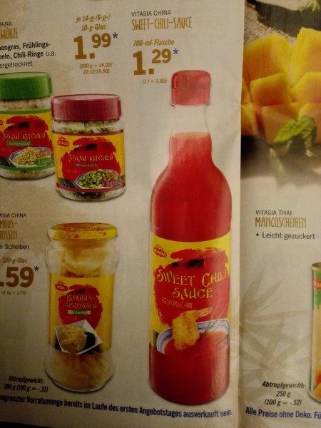 (Offline und bundesweit) süß-sauer/chilli soße 700ml für 1,29€ @lidl