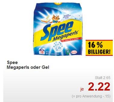 offline kaufland bis 02.01 (Bundesweit?) 2 mal Spee Megaperls 1,012 kg oder Gel 1,095 l