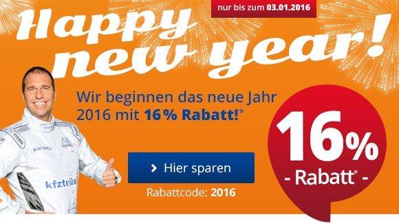 16% Happy New Year mit KfzTeile24