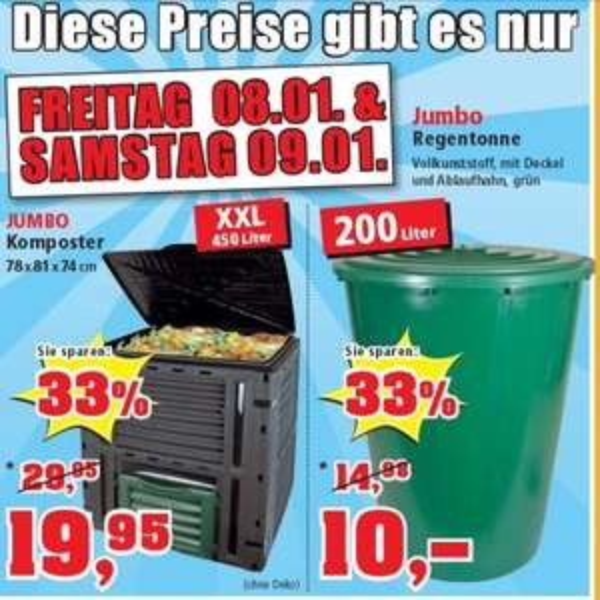 Thomas Philipps - Jumbo Regentonne 200 Liter FREITAG  08.01. & SAMSTAG 09.01. für 10€