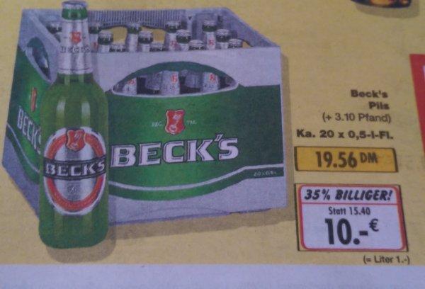 KAUFLAND: Beck's Pils 20x 0,5l für 10€ / 19,56 DM