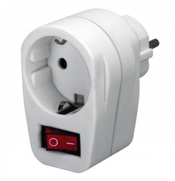 [mediamarkt.de] Brennenstuhl Adapterstecker Schutzkontakt mit Schalter für 1,19 Euro inklusive Versand oder als dreifach-Version für 3 Euro inklusive Versand