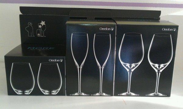 Orrefors More Gläserset (12 Gläser) - Wein, Champagner, Multitumbler (je 4x)