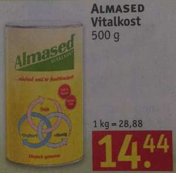Rossmann Almased mit App oder Gutschein für 12,99 Euro ab 04.01.2016