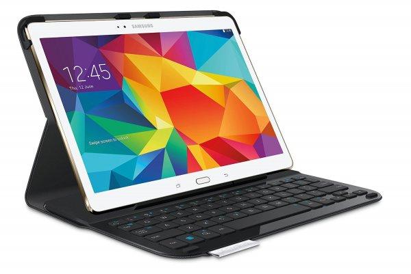 Logitech Keyboard Folio Type S (Tablet-Hülle mit Tastatur für Samsung Galaxy Tab S 10.5; QWERTZ) 39,95€ @Amazon.de
