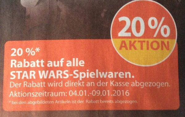 [Mueller Drogerie offline]  20 % auf alle Star Wars Spielwaren