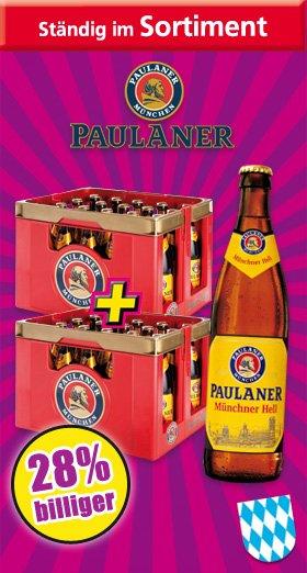 Paulaner Hell 2 Kästen für 19,90 ab 4.1 bei Norma [Regional Bayern]