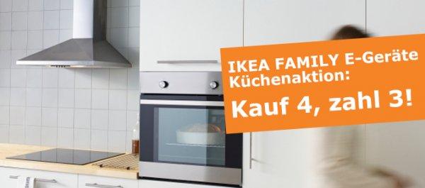 IKEA FAMILY E-Geräte-Küchenaktion: Kauf 4, zahl 3! @ IKEA München Eching bis zu 25% Rabatt