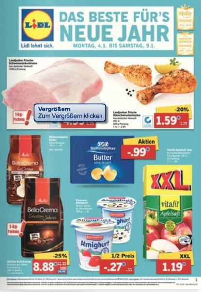 [Lidl/Bundesweit/Sammeldeal] Viele gute Angebote z.B. Bärenmarke die Alpenfrische für 0,79€/L, 450g Prinzenrolle für 1,11€, 400g Oro di Parma für 0,88€ oder Müllermiilch für 0,44€ usw.
