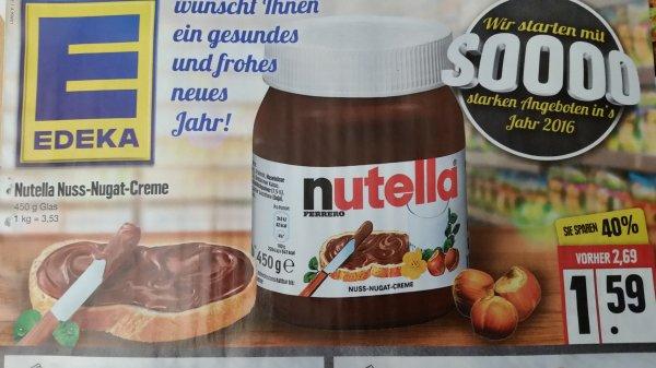 [Edeka Nord] Nutella 450g für 1,59€