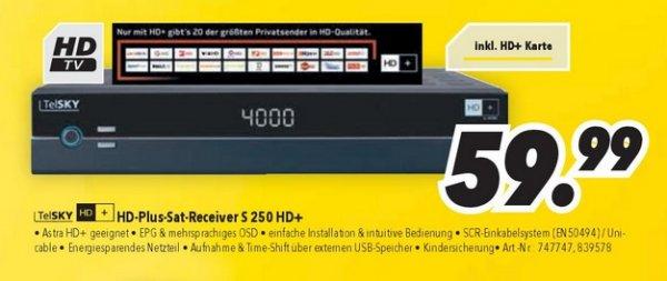 Medimax (offline) TelSKY S250 HD+  inkl. HD+Karte
