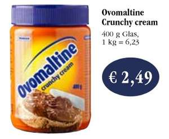 Ovomaltine Crunchy Cream für 1,49€mit reebate bei sky