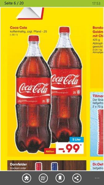 [Netto MD] 2l Coca Cola für 0,99€