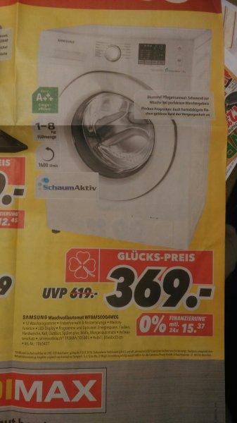 [Medimax] Samsung Waschvollautomat WF8AF5E0Q4W