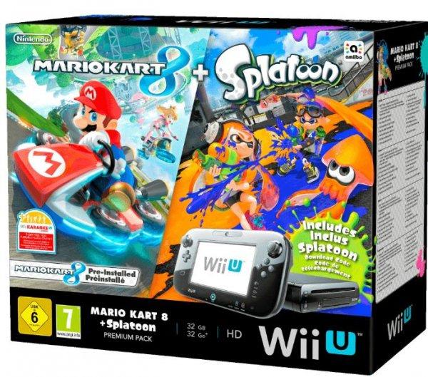 NINTENDO Wii U Premium + Mario Kart 8 + Splatoon + Animal Crossing für 269€