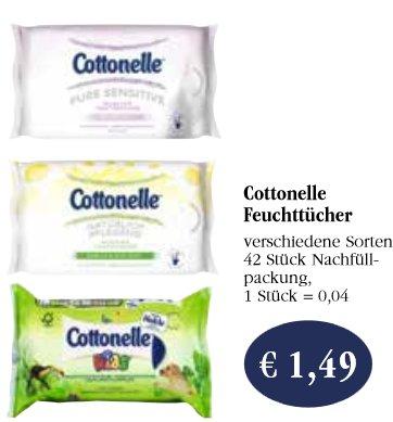 Cottonelle Feuchtes Toilettenpapier mit Scondo für 0,49€ bei Sky