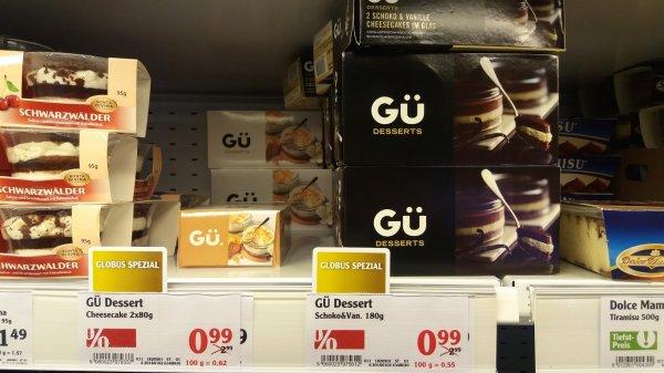 BESTPREIS: GÜ London Dessert 2 x Cheesecake Schoko und Vanille für 0,99 Euro statt 2,99 Euro lokal@ GLOBUS Hockenhein, evtl bundesweit