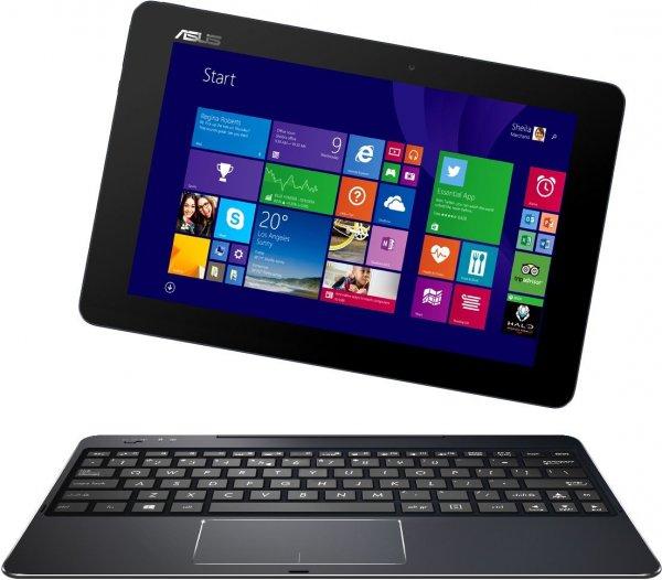 [EURONICS.DE] T100CHI-FG001B 25,6 cm (10,1 Zoll FHD) Convertible Tablet-PC (Intel Atom Z3775, 1,4GHz, 2GB RAM, 32GB, Intel HD, Win 8, Touchscreen) schwarz Win 10 kompatibel für 254,95€