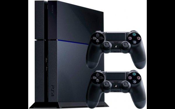 [NICHT MEHR VERFÜGBAR] NEUWARE: SONY Playstation 4 1000GB (1TB) mit 2 DUALSHOCK 4 Controllern für 359,90€!
