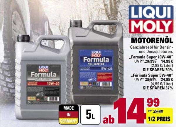 [Lokal Marktkauf Ostfildern / evtl. Bundesweit?] Liqui Moly Leichtlauf Motorenöl 10W-40 5L ab 04.01.