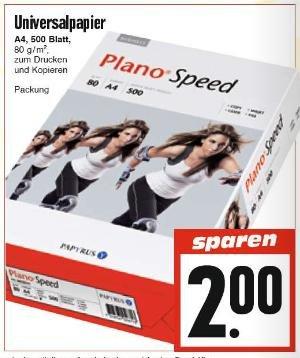 [EDEKA Hessenring] Druckerpapier PlanoSpeed 80 g / m² für je 2,00 €