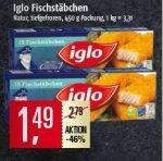 Iglo Fischstäbchen (15 Stück) für 1,49€ bei Marktkauf Nord