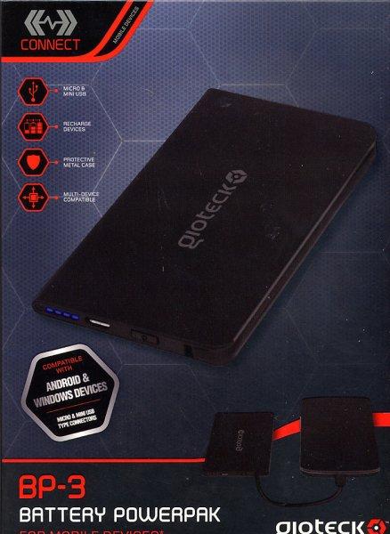 GIOTECK BP3 Mobile Battery Power Pack (2000 mAh)