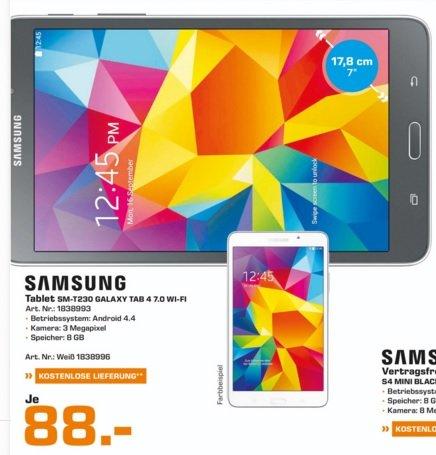 "(Lokal) Samsung Galaxy Tab 4 7.0"" WiFi 8GB für 88€ @ Saturn Bielefeld"
