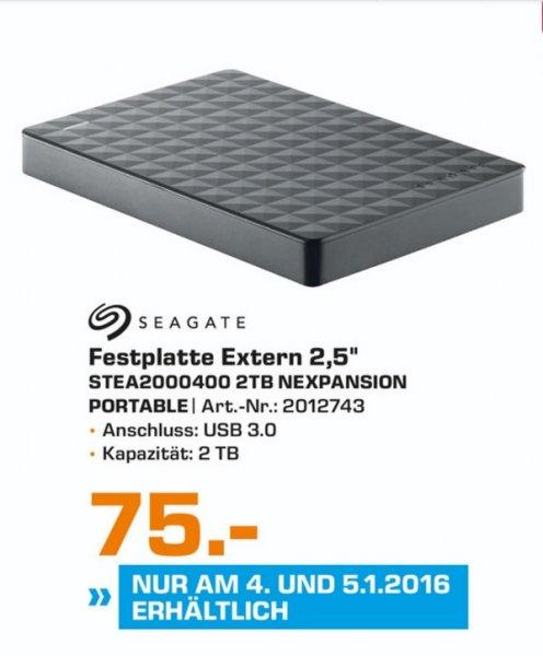 """(Lokal) Seagate Expansion Portable 2TB 2,5"""" für 75€ (Ausbaubar für die PS4) @ Saturn Gelsenkirchen"""