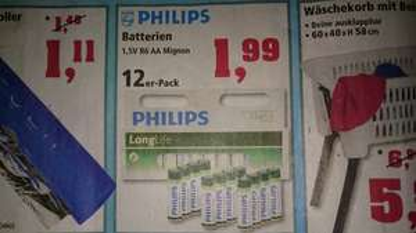 [Thomas Philipps] Philips AA Batterien 12er Pack 1,99