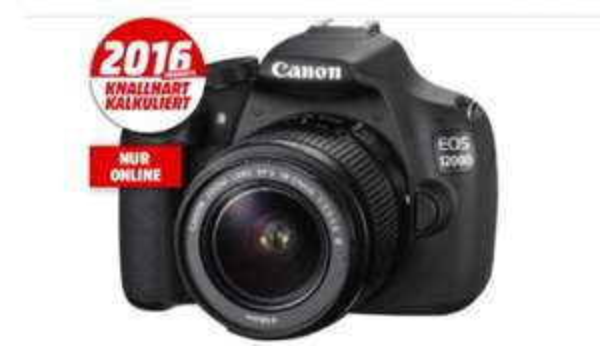 [Mediamarkt/online] Canon EOS 1200D + Objektiv 18-55mm f/3.5-5.6 (18 Megapixel, CMOS)
