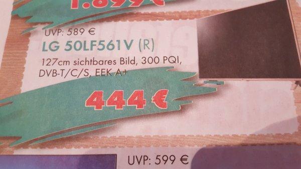 [lokal Oberhausen Radtke] LG 50LF561V Full-HD TV, 127cm, Triple Tuner, EEK A+, Restposten, 444€