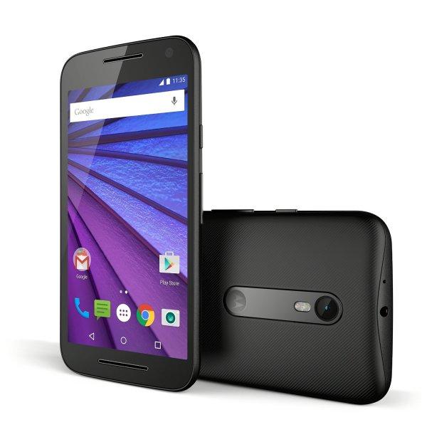 """Motorola Moto G 3 LTE (5"""" HD IPS, Snapdragon 410 Quadcore 1,4 GHz, 2GB Ram, 16GB Speicher, 13MP Kamera, IPX7, Android 6) für 184,68€ bei Amazon.fr"""
