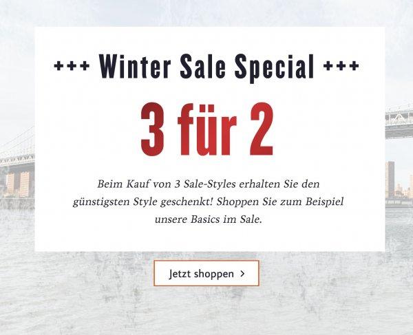 Tom Tailor 3 für 2 und 50% Winter Sale.