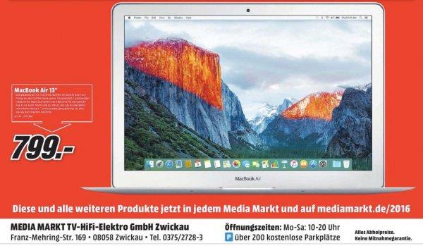 "Lokal: Mediamarkt Zwickau - Macbook Air 13"" 128GB"