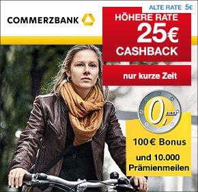[Qipu] Commerzbank: Kostenloses Girokonto mit 100€ Startguthaben + 10.000 Miles & More Prämienmeilen + 25€ Cashback