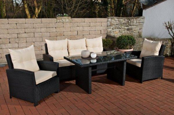 Polyrattan Gartengarnitur Fisolo für 629,30€ inkl. Versand VG-Preis 899€