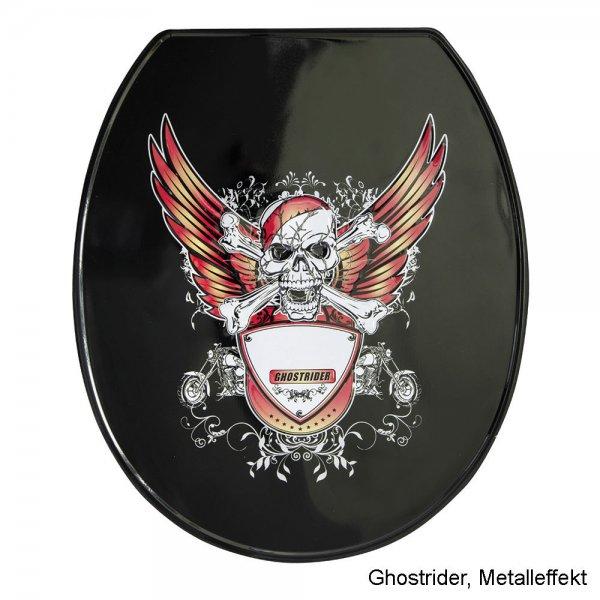 WC-Sitz mit Absenkautomatik in Metalleffekt oder High Gloss für 29,90€ @eBay
