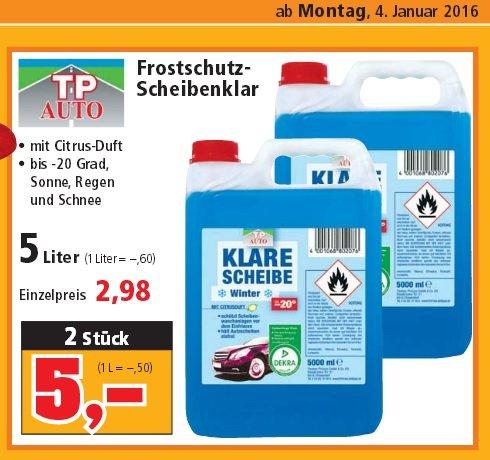 [thomas-philipps] 5L Frostschutz- Scheibenklar mit Citrus-Duft 2,98€ oder 10L 5€