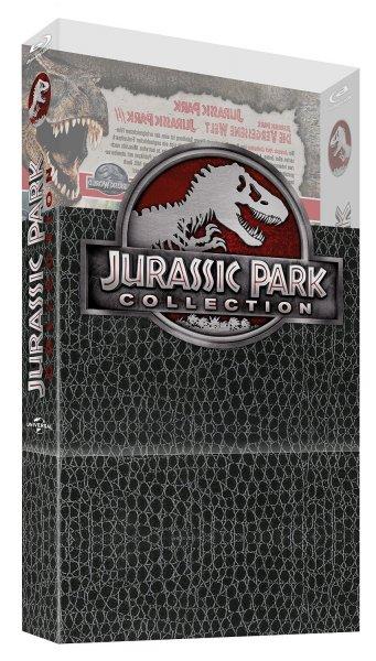 (Amazon.de-Prime) Jurassic World -  Premium Steelbook Edition mit 2 Dinosaurier-Figuren auf Blu-ray Limited Edition für 69,97€) und Jurassic Park Collection - Dino-Skin Edition auf Blu-ray für 16,97€