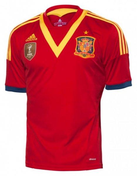 (Amazon Prime & diverse Shops) Spanien Trikot Home 2013 sehr günstig und alle Größen vorhanden, ab 13,5€