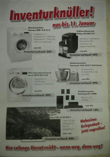 [Lokal Waldkraiburg Haag] Inventurverkauf Euronics XXL - u.a. Kenwood KVC 5010T für 399 €