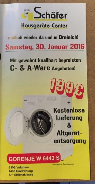 Waschmaschine Gorenje W6443S als Tagesangebot 30.01. in 63303 Dreieich (nur Lokal!!!)